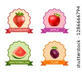 label for fruits | Shutterstock . vector #1286666794