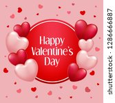 valentine's day background with ... | Shutterstock . vector #1286666887