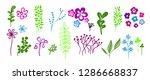 set of flora elements. vector | Shutterstock .eps vector #1286668837