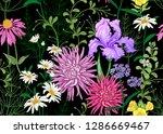 seamless summer pattern. wild... | Shutterstock .eps vector #1286669467