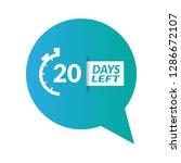 20 days left sign   emblem ...