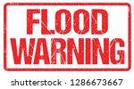 Flash Flood Warning Sign Red...
