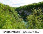 waterfalls at plitvice lakes... | Shutterstock . vector #1286674567