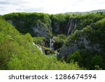 waterfalls at plitvice lakes... | Shutterstock . vector #1286674594