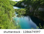 waterfalls at plitvice lakes... | Shutterstock . vector #1286674597
