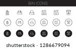 bin icons set. collection of...   Shutterstock .eps vector #1286679094