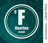 fluorine chemical element. sign ... | Shutterstock .eps vector #1286679631
