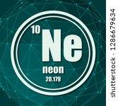 neon chemical element. sign... | Shutterstock .eps vector #1286679634