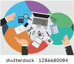 audit concept vector | Shutterstock .eps vector #1286680084