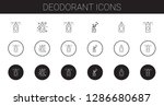 deodorant icons set. collection ... | Shutterstock .eps vector #1286680687
