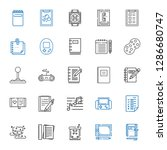 pad icons set. collection of... | Shutterstock .eps vector #1286680747