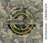 canadian quality on camouflaged ... | Shutterstock .eps vector #1286682124