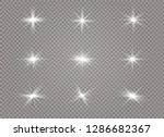 white glowing light explodes on ... | Shutterstock .eps vector #1286682367