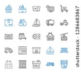 shipping icons set. collection... | Shutterstock .eps vector #1286683867