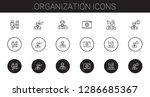 organization icons set.... | Shutterstock .eps vector #1286685367