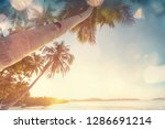 serenity on the tropical beach | Shutterstock . vector #1286691214