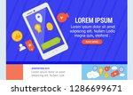 technology website template...   Shutterstock .eps vector #1286699671