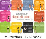 colorful template for... | Shutterstock .eps vector #128670659