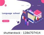 language school  online...   Shutterstock .eps vector #1286707414