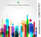 abstract dynamic composition... | Shutterstock .eps vector #1286707957