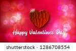 red heart in textured style... | Shutterstock .eps vector #1286708554