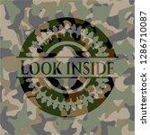 look inside on camouflaged... | Shutterstock .eps vector #1286710087