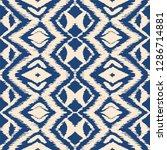 ikat seamless pattern. vector... | Shutterstock .eps vector #1286714881