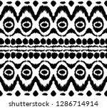 ikat seamless pattern. vector... | Shutterstock .eps vector #1286714914