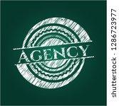 agency written with chalkboard... | Shutterstock .eps vector #1286723977