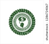 green thinking in money icon... | Shutterstock .eps vector #1286724067
