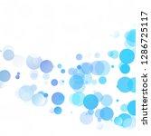 bubbles circle dots unique blue ...   Shutterstock .eps vector #1286725117