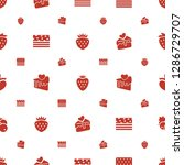 strawberry icons pattern... | Shutterstock .eps vector #1286729707