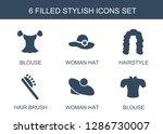 6 stylish icons. trendy stylish ... | Shutterstock .eps vector #1286730007