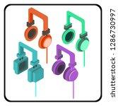 headphones variation design  ... | Shutterstock .eps vector #1286730997