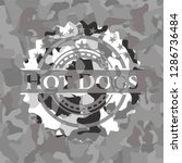 hot dogs on grey camouflage... | Shutterstock .eps vector #1286736484