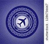 plane icon inside badge with... | Shutterstock .eps vector #1286736667
