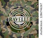 traveller written on a camo... | Shutterstock .eps vector #1286746267