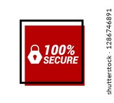 red vector banner 100  secure...