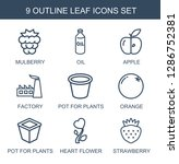 9 leaf icons. trendy leaf icons ... | Shutterstock .eps vector #1286752381