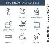 9 antenna icons. trendy antenna ... | Shutterstock .eps vector #1286752417