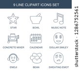 9 clipart icons. trendy clipart ...   Shutterstock .eps vector #1286752561