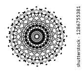 mandala pattern black and white ...   Shutterstock .eps vector #1286755381