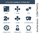9 gamble icons. trendy gamble... | Shutterstock .eps vector #1286756521