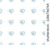 heartbeat icon pattern seamless ... | Shutterstock .eps vector #1286756764