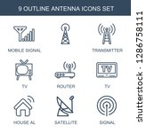 antenna icons. trendy 9 antenna ... | Shutterstock .eps vector #1286758111
