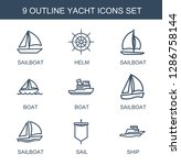 yacht icons. trendy 9 yacht... | Shutterstock .eps vector #1286758144