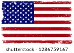 grunge american flag.dirty old... | Shutterstock .eps vector #1286759167