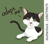 pet adoption poster.black and... | Shutterstock .eps vector #1286759674