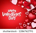happy valentines day vector... | Shutterstock .eps vector #1286762791