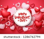 valentines day vector hearts... | Shutterstock .eps vector #1286762794